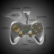 金色游戏手柄(坠饰) 3d model