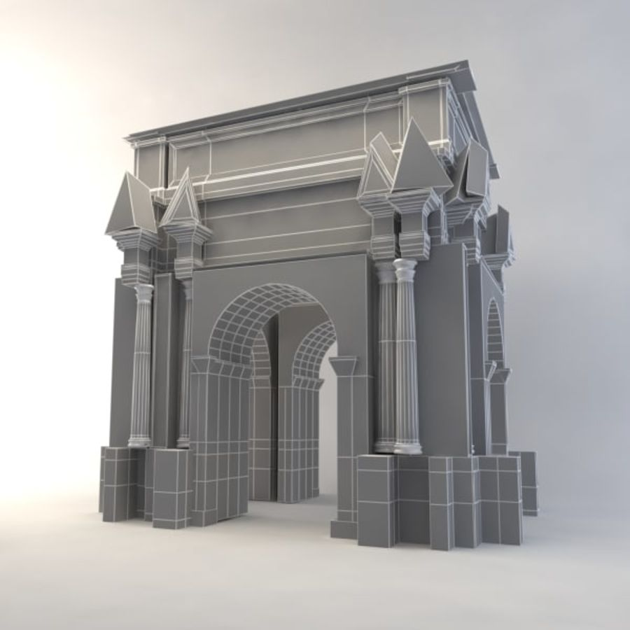 the arch of septimius severus royalty-free 3d model - Preview no. 7