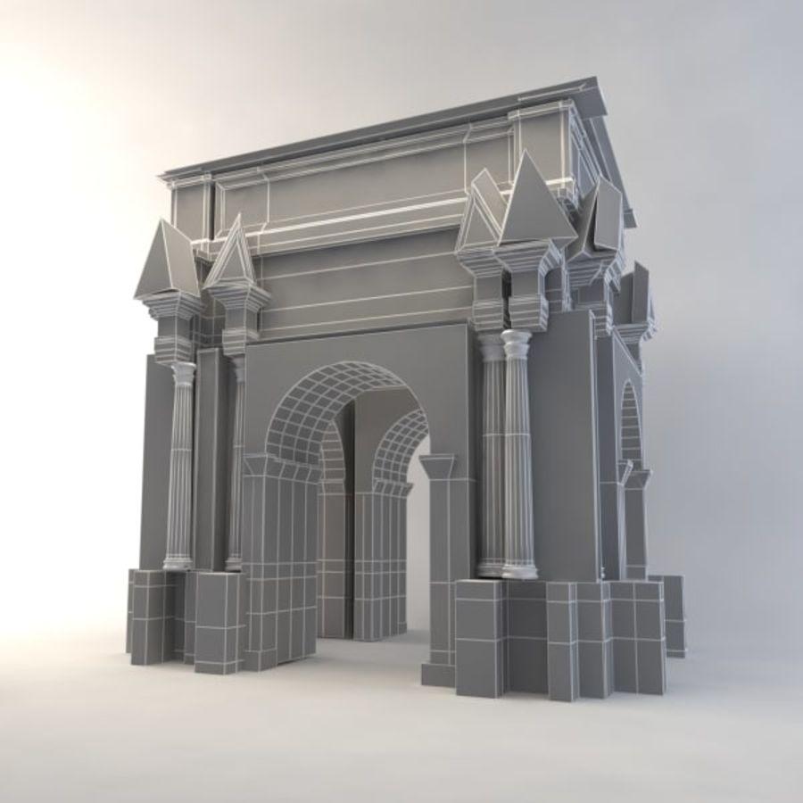 der Bogen von Septimius Severus royalty-free 3d model - Preview no. 7