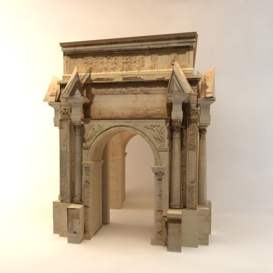 the arch of septimius severus royalty-free 3d model - Preview no. 3