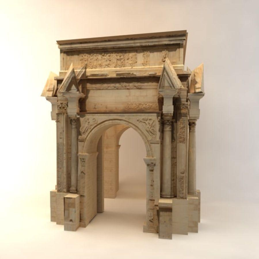 der Bogen von Septimius Severus royalty-free 3d model - Preview no. 3