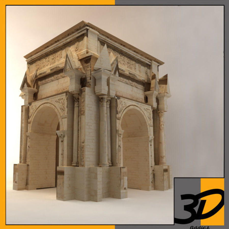 the arch of septimius severus royalty-free 3d model - Preview no. 1