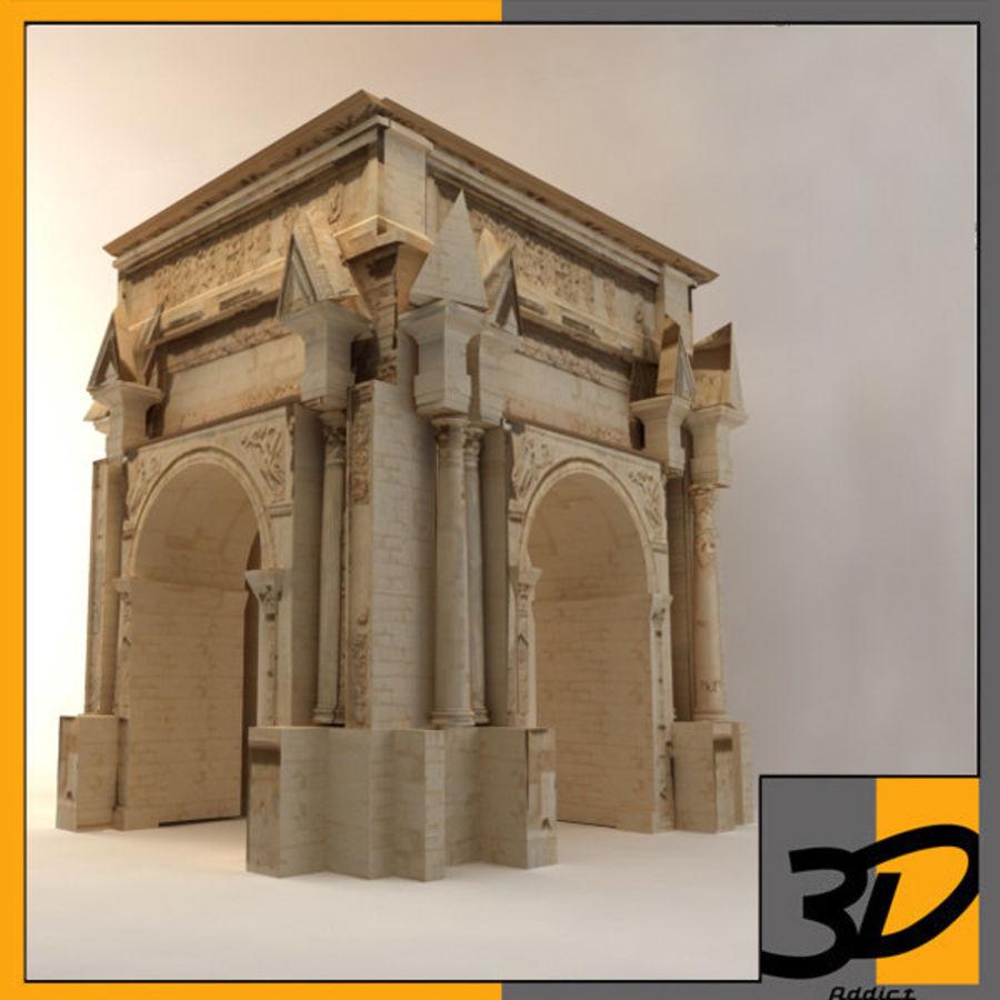 der Bogen von Septimius Severus royalty-free 3d model - Preview no. 1
