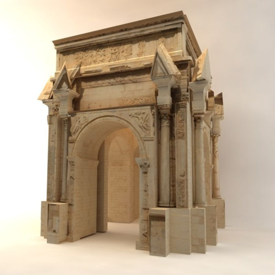 the arch of septimius severus royalty-free 3d model - Preview no. 5
