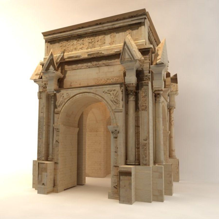 der Bogen von Septimius Severus royalty-free 3d model - Preview no. 5