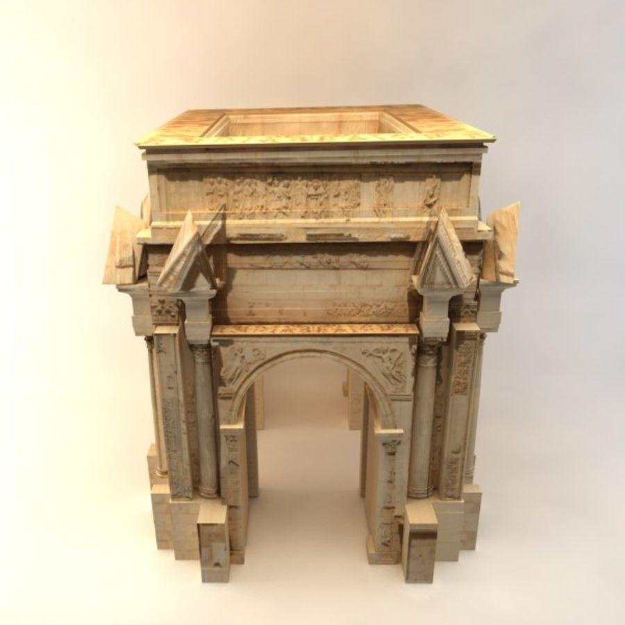 der Bogen von Septimius Severus royalty-free 3d model - Preview no. 4