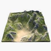 Mountain Range 3d model