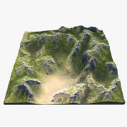 Mountain Range 3d model