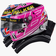 Jenson Button 2014 style Racing helmet 3d model