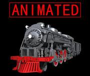 tåg animerade 3d model