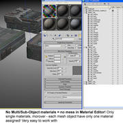 Sci Fi City Building Futuristic 11 3d model