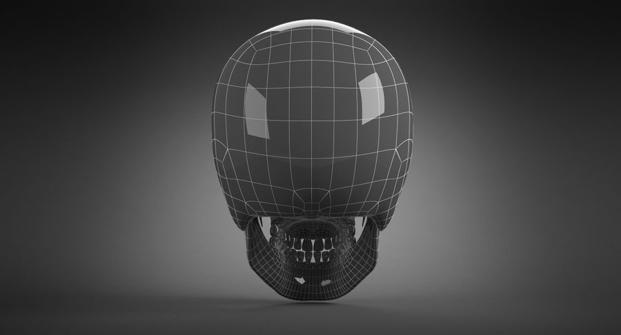 Human Skull royalty-free 3d model - Preview no. 26