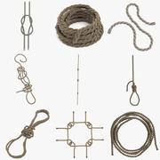 Conjunto de cordas 3d model