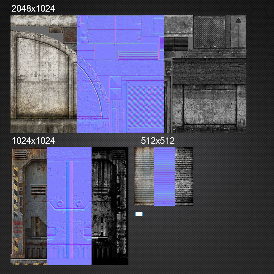 Garage Exterior royalty-free 3d model - Preview no. 15