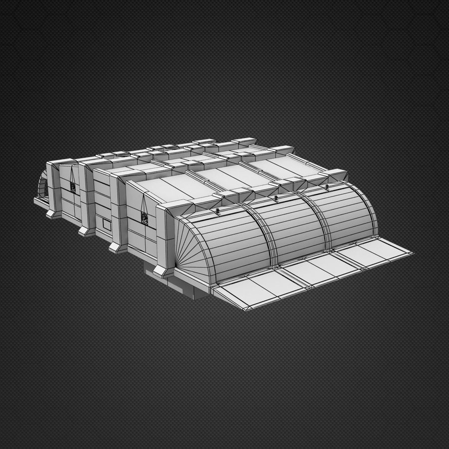 Garage Exterior royalty-free 3d model - Preview no. 12