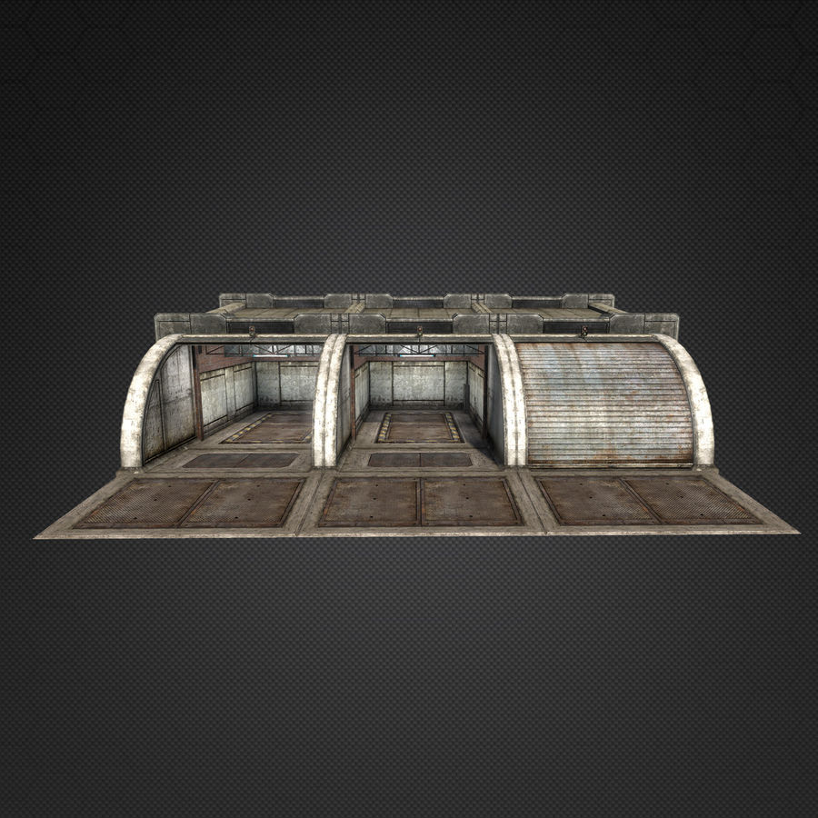 Garage Exterior royalty-free 3d model - Preview no. 5