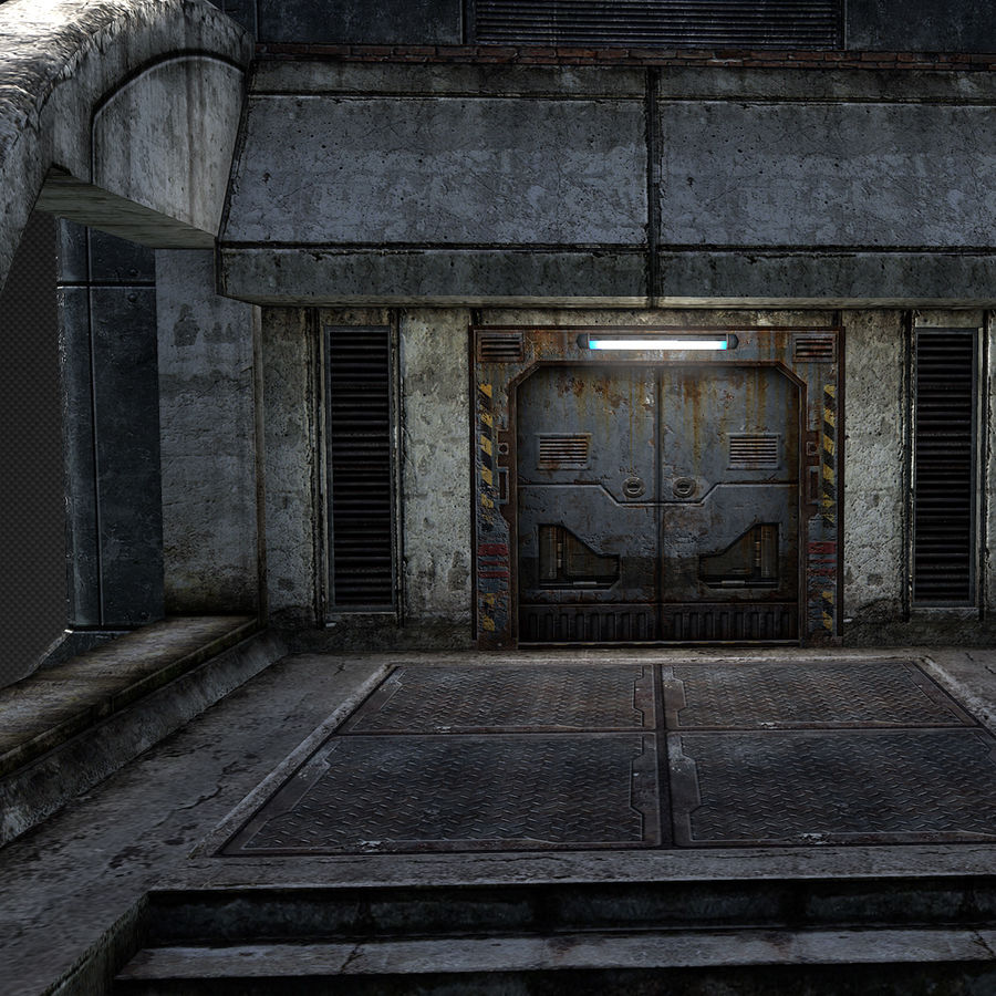 Garage Exterior royalty-free 3d model - Preview no. 9
