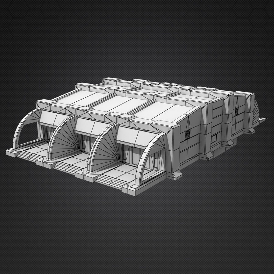 Garage Exterior royalty-free 3d model - Preview no. 13