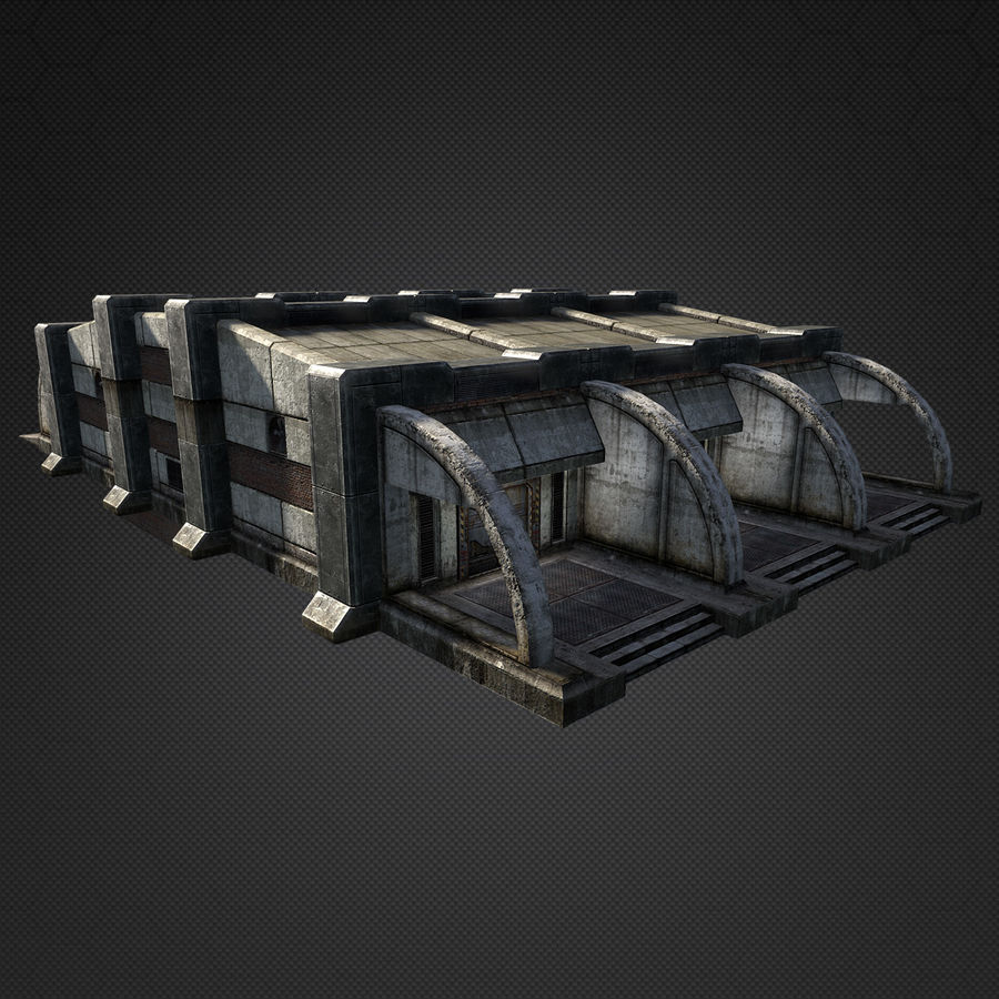 Garage Exterior royalty-free 3d model - Preview no. 7