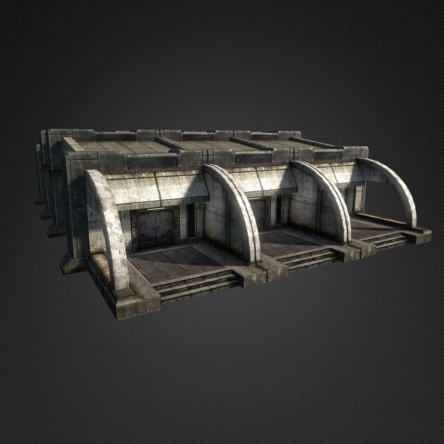 Garage Exterior royalty-free 3d model - Preview no. 10