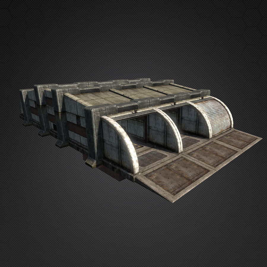 Garage Exterior royalty-free 3d model - Preview no. 4
