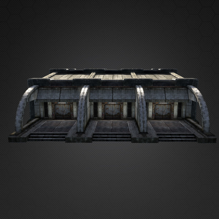 Garage Exterior royalty-free 3d model - Preview no. 8