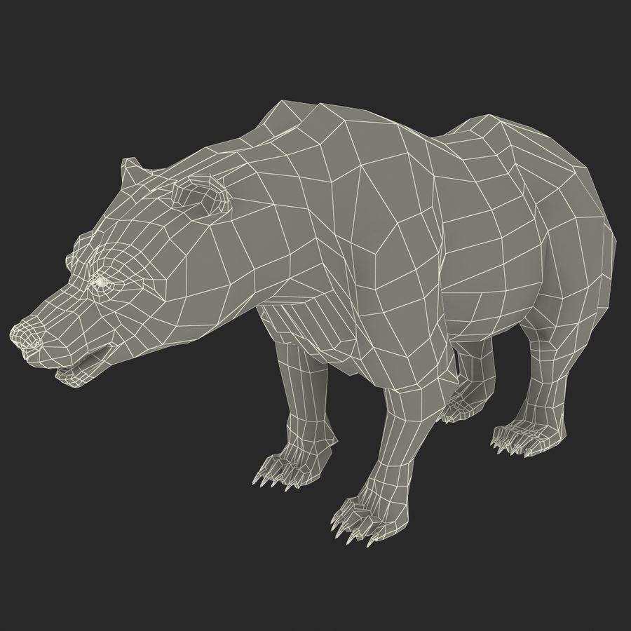 Niedźwiedź grizzly royalty-free 3d model - Preview no. 15