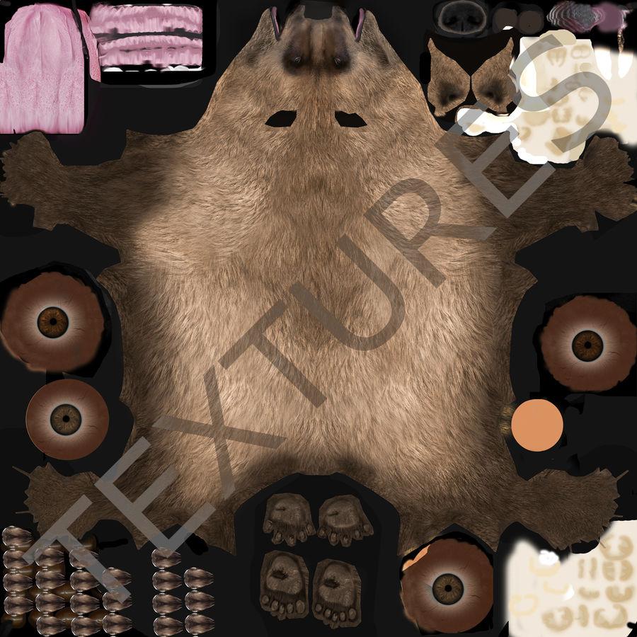 Niedźwiedź grizzly royalty-free 3d model - Preview no. 23