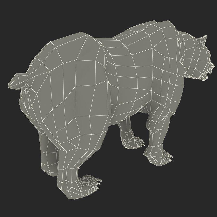 Niedźwiedź grizzly royalty-free 3d model - Preview no. 16