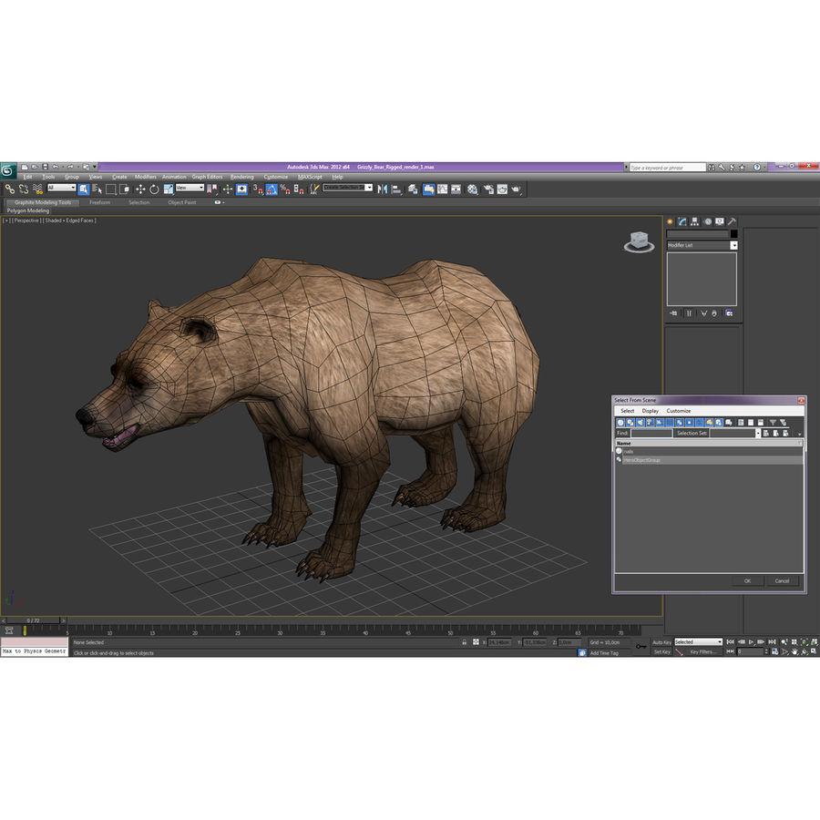 Niedźwiedź grizzly royalty-free 3d model - Preview no. 24