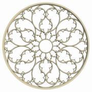 Elegant gotisk rosfönster 3d model