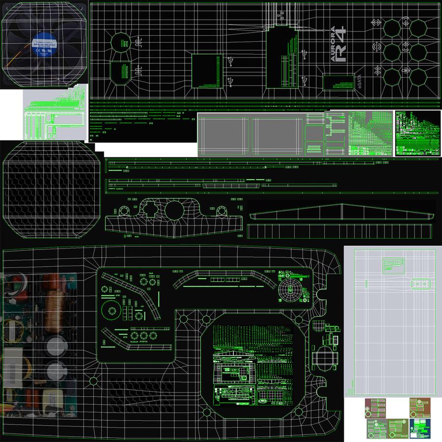 Alienware Aurora Desktop Computer royalty-free 3d model - Preview no. 34