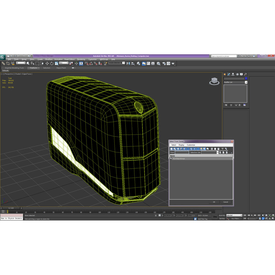 Alienware Aurora Desktop Computer royalty-free 3d model - Preview no. 38