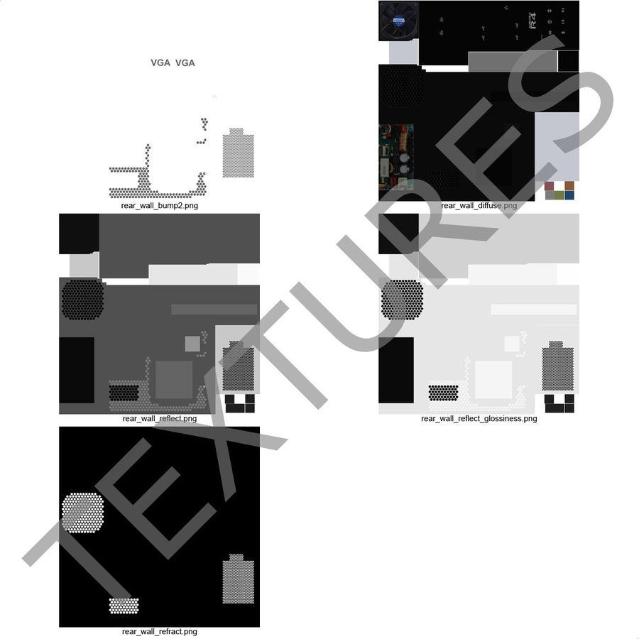 Alienware Aurora Desktop Computer royalty-free 3d model - Preview no. 37