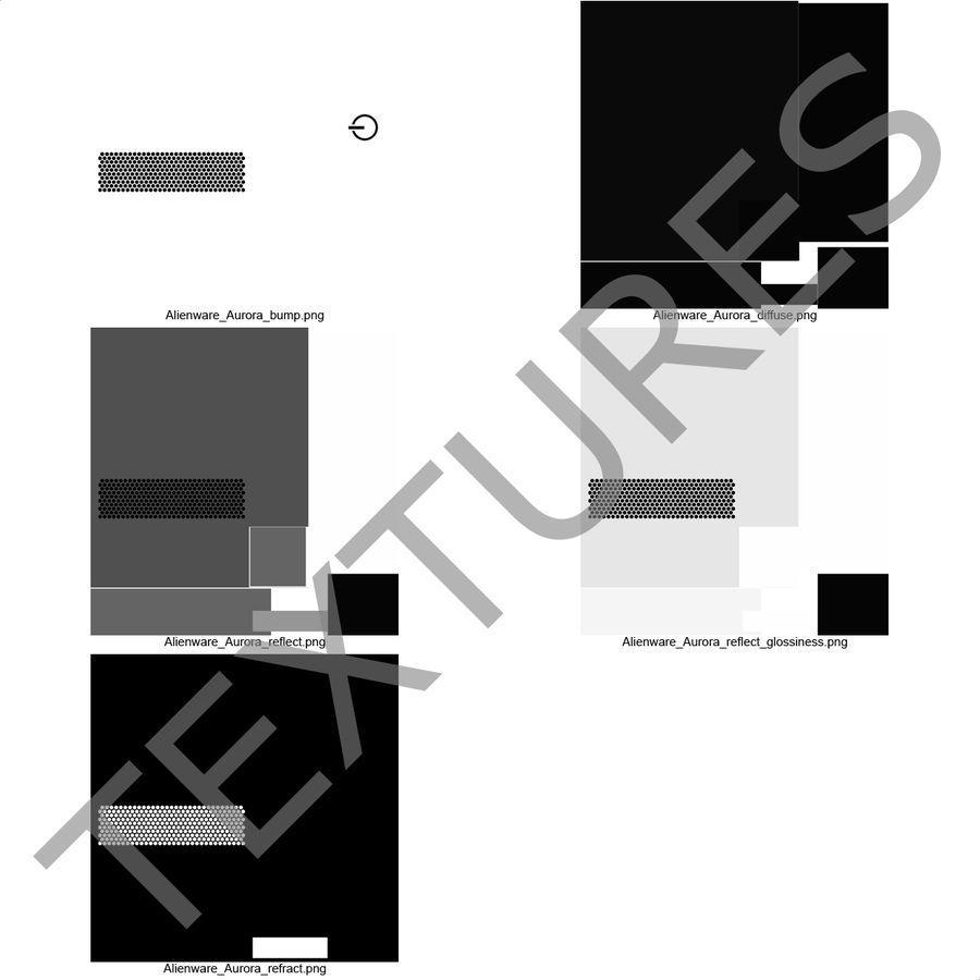Alienware Aurora Desktop Computer royalty-free 3d model - Preview no. 36