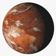 Terra do deserto 3d model