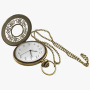 Pocket Watch and Chain 3d model