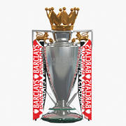 Premier League Cup Trophy (1) 3d model