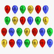 Alphabet ballon 3d model