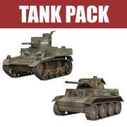 탱크 팩 3d model