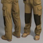 Kläder för arbetskläder 3d model