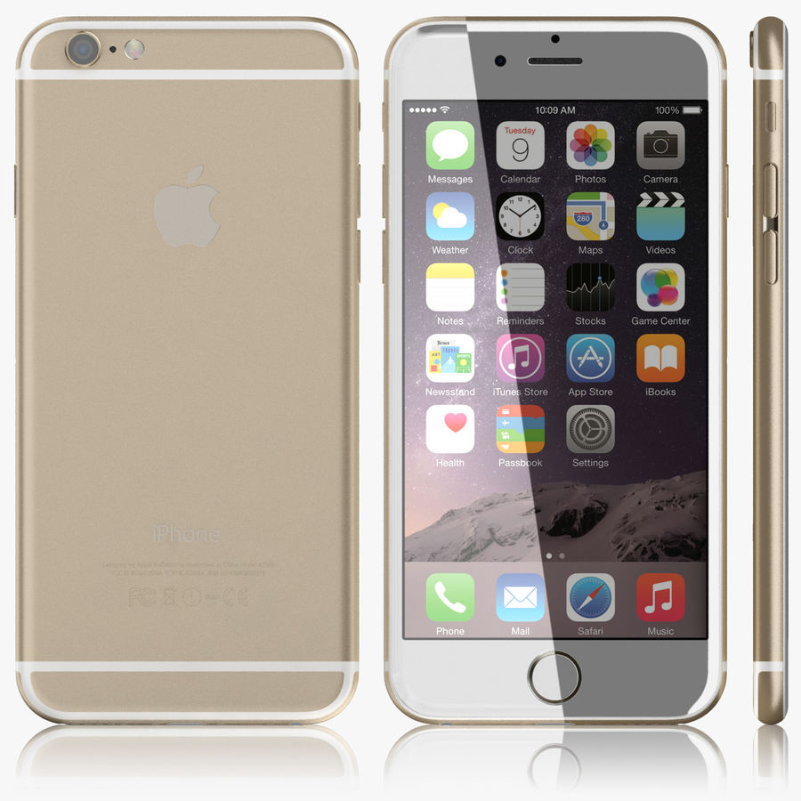Айфон 6 royalty-free 3d model - Preview no. 5