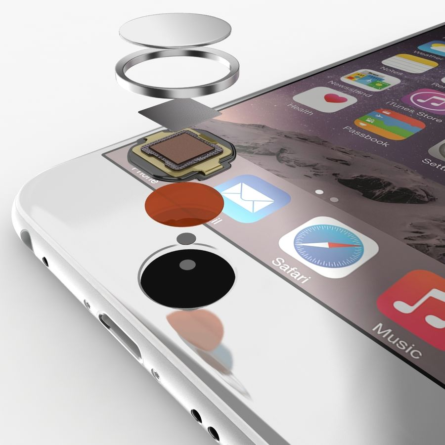 Айфон 6 royalty-free 3d model - Preview no. 6