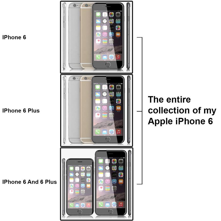 Айфон 6 royalty-free 3d model - Preview no. 42