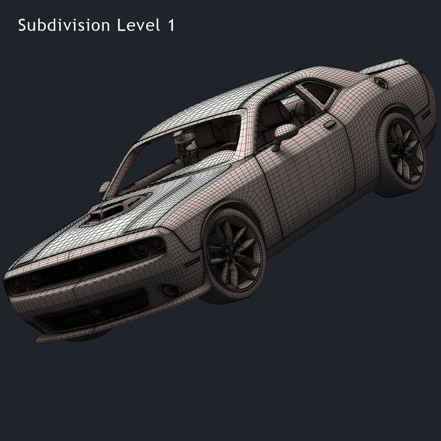 2015 Dodge Challenger 392 HEMI royalty-free 3d model - Preview no. 18