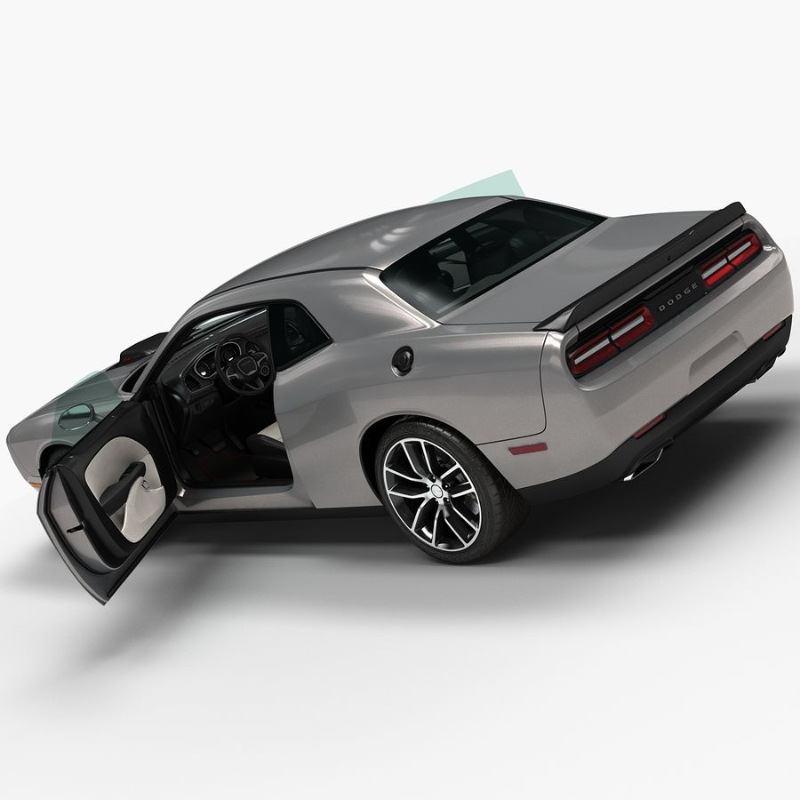 2015 Dodge Challenger 392 HEMI royalty-free 3d model - Preview no. 9