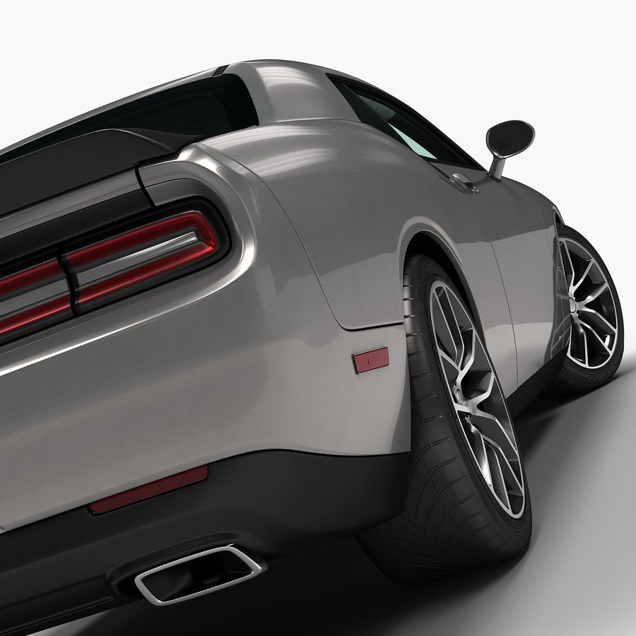 2015 Dodge Challenger 392 HEMI royalty-free 3d model - Preview no. 8