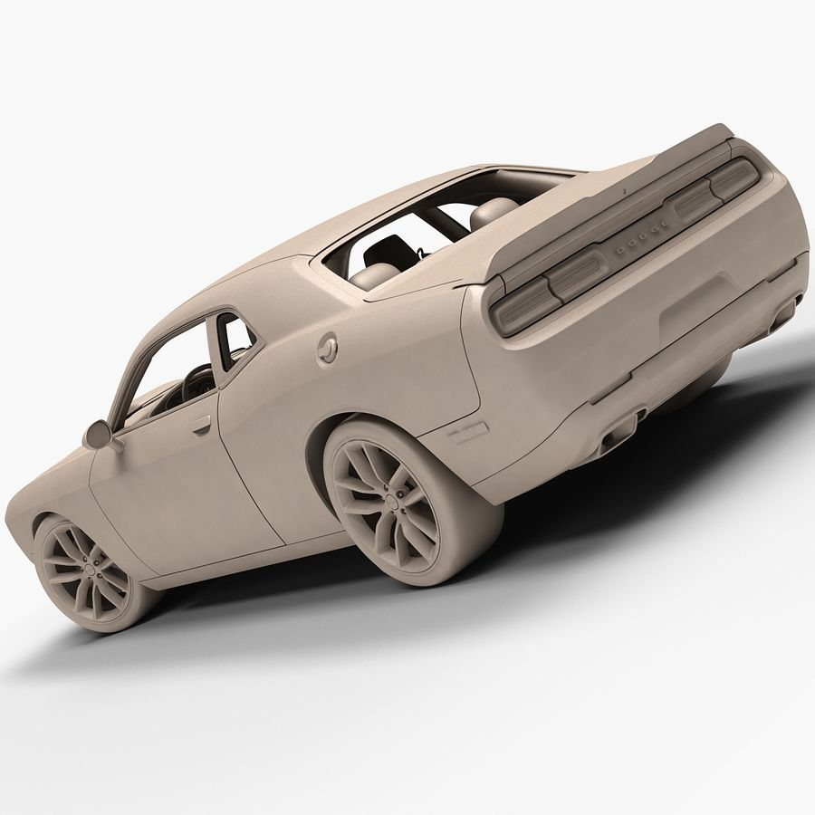 2015 Dodge Challenger 392 HEMI royalty-free 3d model - Preview no. 15