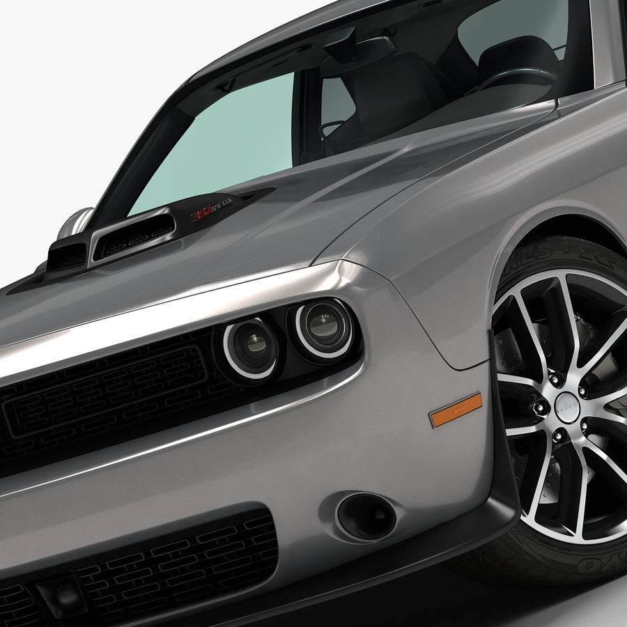 2015 Dodge Challenger 392 HEMI royalty-free 3d model - Preview no. 7