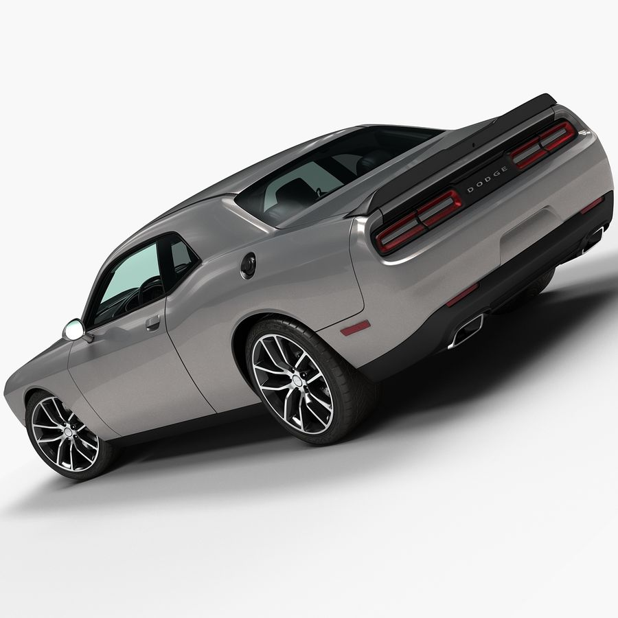 2015 Dodge Challenger 392 HEMI royalty-free 3d model - Preview no. 3